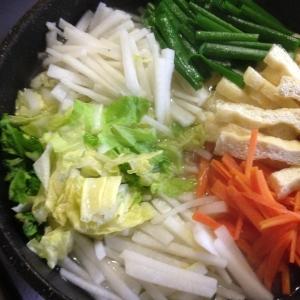 千切り野菜鍋