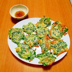 野菜とチーズの一口チヂミ