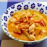 節分の炒り豆で!ゴロゴロチキンと福豆のトマトスープ