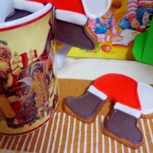 サンタのおしりクッキー