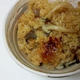 中華風鶏とキノコの炊きおこわ
