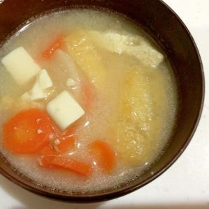 人参と大根のシンプル味噌汁