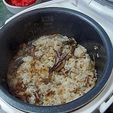カルシウムたっぷり★丸干しの炊き込みご飯