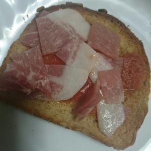 簡単、生ハムを使った、ちょっとリッチなトースト