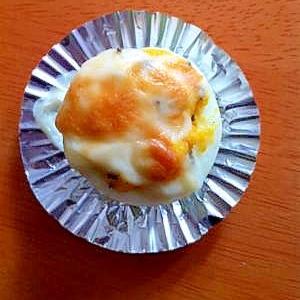 お弁当に簡単な☆ゆで卵のグラタン☆
