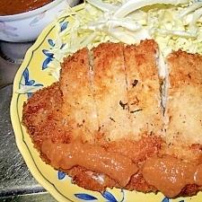 ご飯がすすむ!にんにく味噌のトンカツ