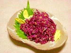 減塩☆菊の胡麻酢和え