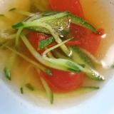 トマトとキュウリのスープ(^^)