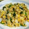 空芯菜と卵の炒飯