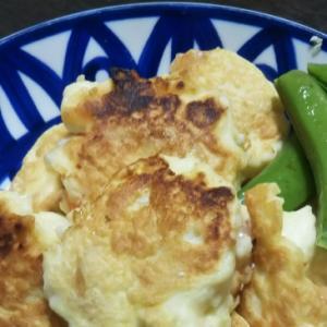 豆腐とエビとはんぺんでフワフワお焼き