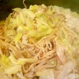 濃縮スープにたっぷり野菜と豚肉の鍋