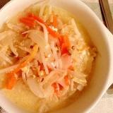 妊婦食☆ボリューム満点!もやしと玉ねぎと卵のスープ