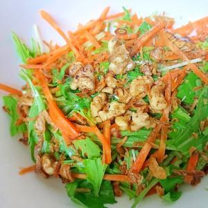 人参と水菜のサラダ