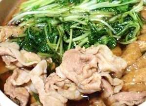 水菜を食べる。豚のはりはり鍋