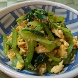 小松菜と炒り玉子の和え物