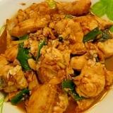鯛の青ネギ、生姜、大蒜入れ煮もの