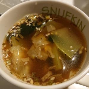ズッキーニのしじみスープ
