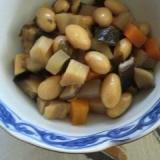 胡麻油で美味しい、七目豆