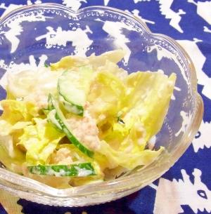カニとレタスのマヨネーズ和えサラダ