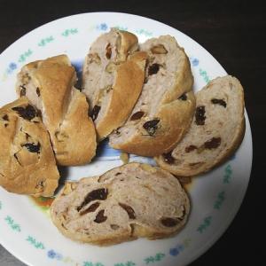★簡単★ 胡桃とレーズンのライ麦パン