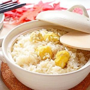 土鍋で炊く生姜風味の栗ご飯