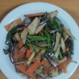 筍と小松菜の炒め物