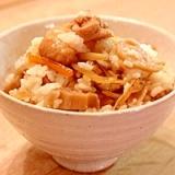 秋の味♪鶏肉と根菜の混ぜご飯