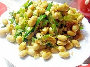 大豆とネギのナムル