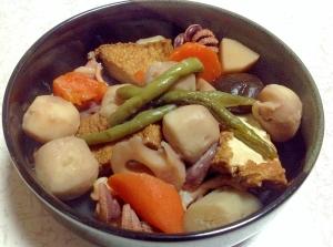 圧力鍋で簡単☆里芋&厚揚げ&イカの煮物