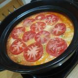 トマト缶で作るボリューミーなトマト鍋☺