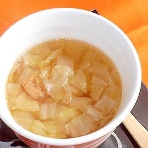とろとろ白菜と干しえびのエスニックスープ