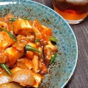 ちょっぴり和風な優しい味、厚揚げのケチャップ炒め