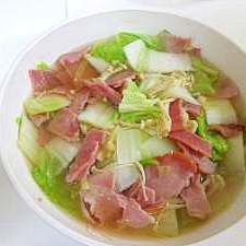 白菜とベーコン☆コンソメ煮