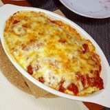 ズッキーニのトマト&ホワイトソースグラタン