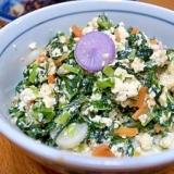 大根菜(間引き菜)たっぷり炒り豆腐