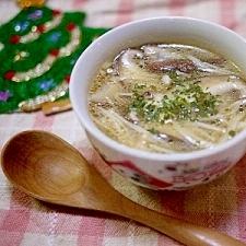 浅漬けの素でウマウマ♪椎茸とえのきの簡単スープ