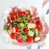 焼きミニトマトに、ポン酢