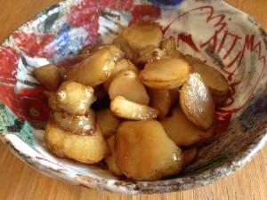 シャキシャキ感がたまらない!菊芋のバター醤油煮