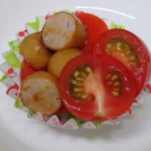 お弁当に。ミニトマトとソーセージ炒め