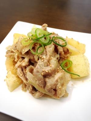 コクうま♫豚肉とジャガイモの味噌マヨバター炒め