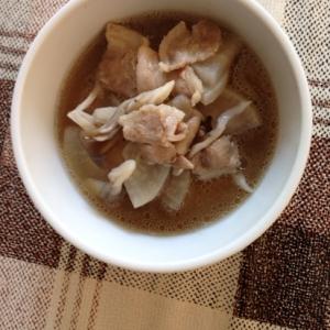 大根と豚バラのスープ