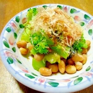 ブロッコリーと大豆の おかかポン酢和え