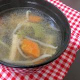 タバスコ使って、ピリ辛スープ