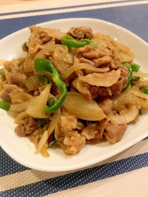 ★豚肉★ピーマンと玉ねぎのカレー炒め