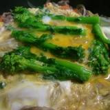 菜花と牛肉の卵とじ