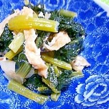 無駄なくキャベツの芯で甘さプラス*小松菜の煮浸し