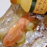 鮭の塩ガーリックバターホイル焼き