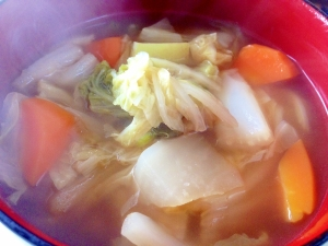 ありあわせですぐできる!あったまる!野菜スープ♪