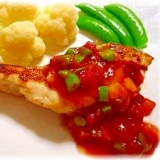 ♪♪真鯛withカラフル野菜のサルサソース♪♪