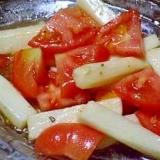 長芋とトマトのサラダ 和風グレープシードオイルで